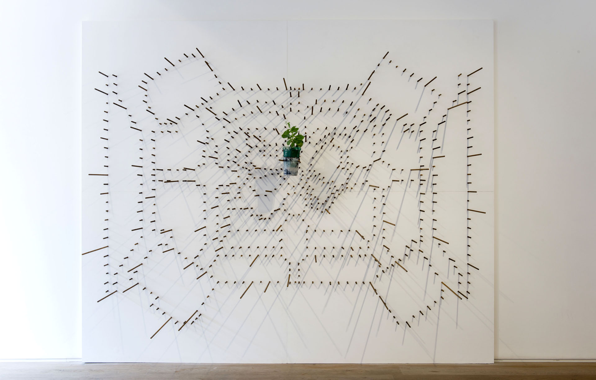 A-Biotic - 2014, 768 irons for reinforced concrete spontaneous plant, 225x270x90cm