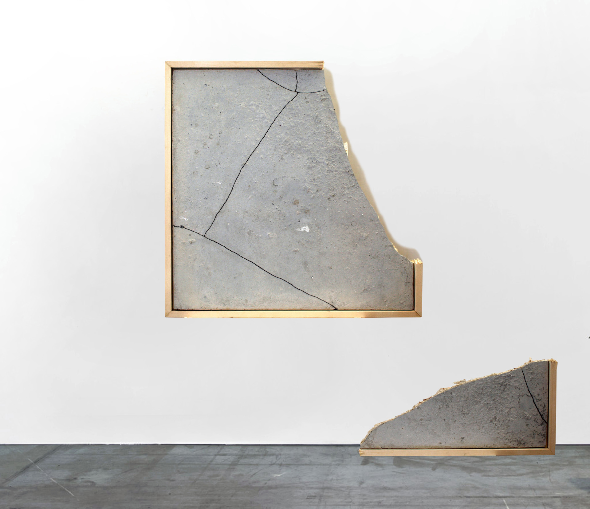 MQ - 2016, 105x105cm, Concrete and wood